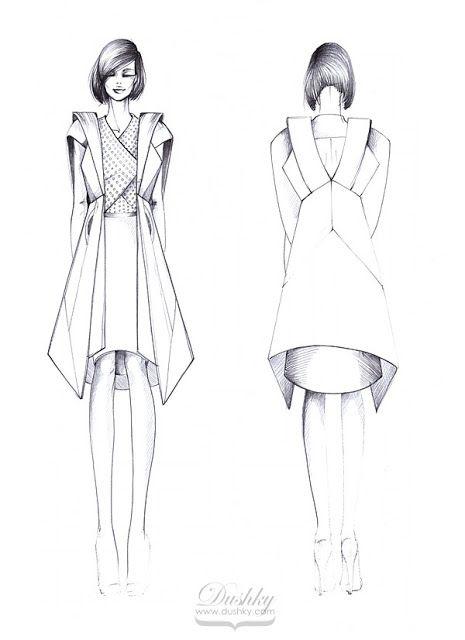 fashion sketch by #dushky | #fashion #illustration #design ...
