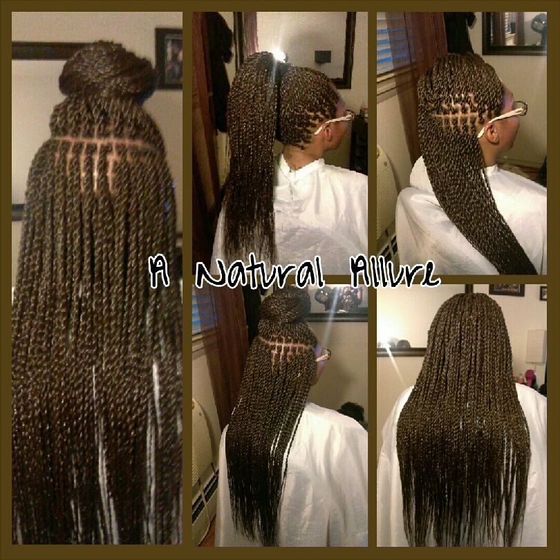 Xpression Hairstyles : Small, waist length Senegalese Twists installed with Xpression ...