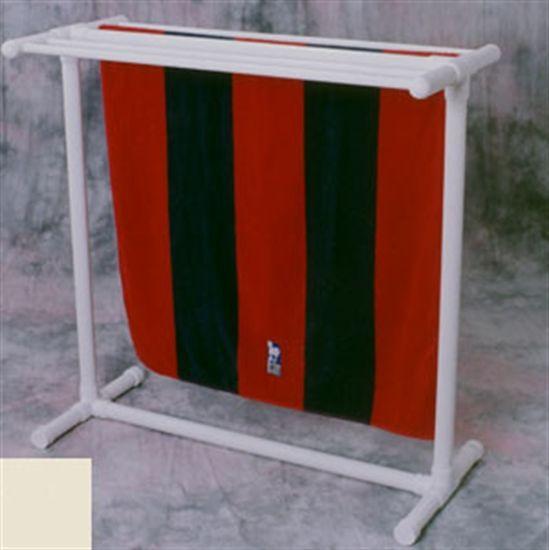 Outdoor Towel Rack 5 Bar Horizontal - White