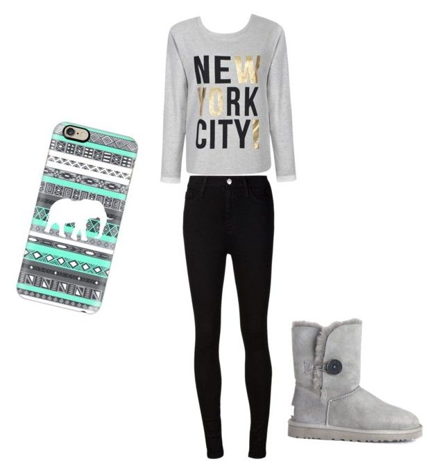 """Untitled #7"" by lexilew290 ❤ liked on Polyvore featuring Ally Fashion, AG Adriano Goldschmied, UGG Australia and Casetify"