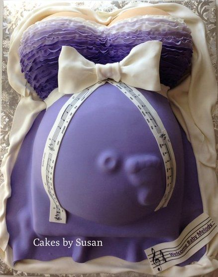 Pregnant belly cake