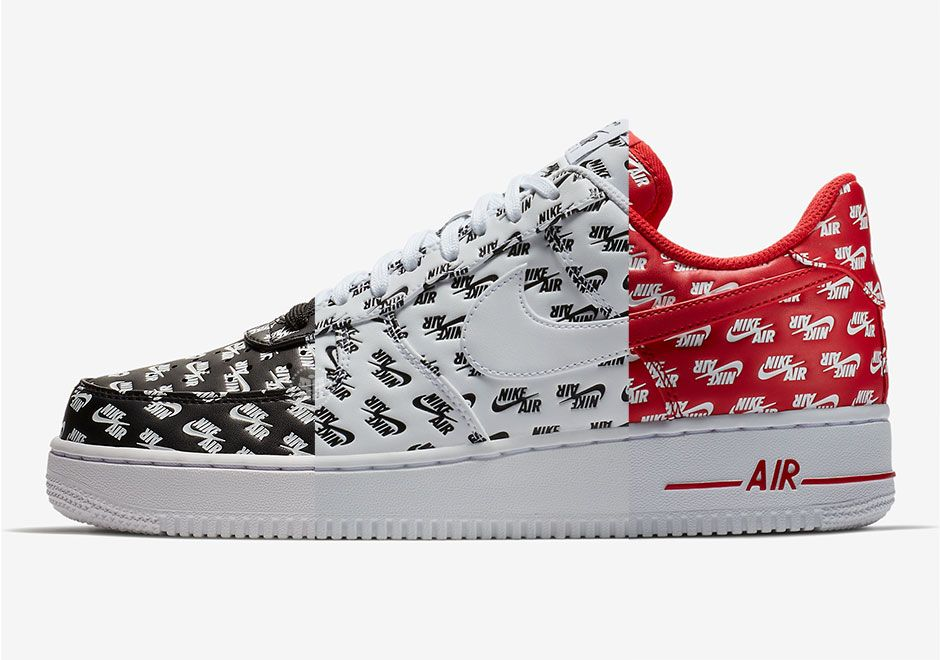 NEW] Nike Air Force 1 Low '07 QS All Over Logo Pack, Men's