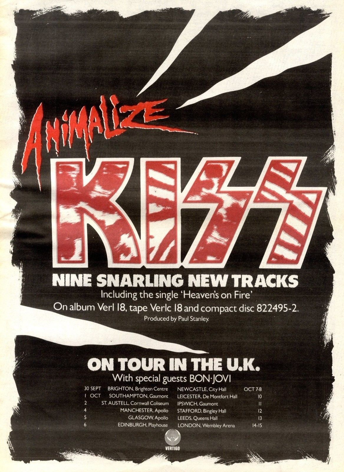 Kiss Promotional Ad Kiss Music Kiss Band Concert Posters