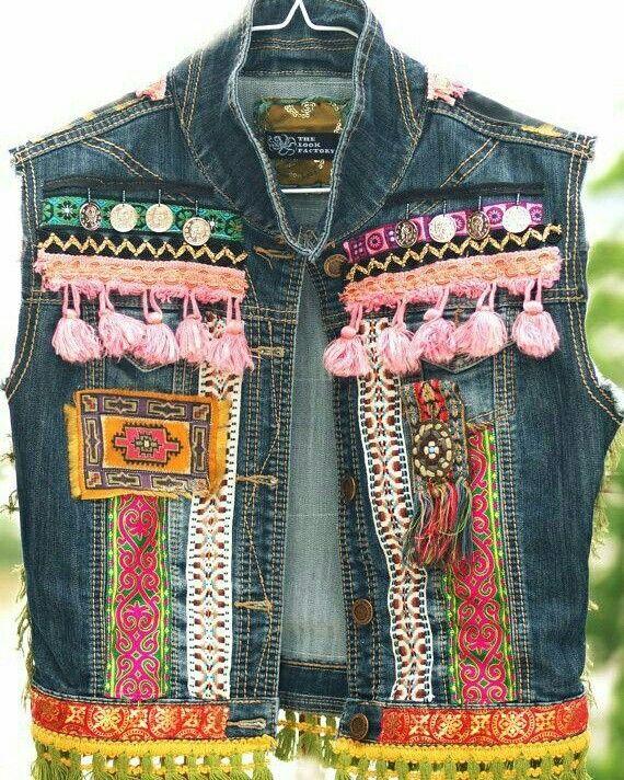 #Jaqueta #jeans #customizada #Customização #diy #facavocemesmo