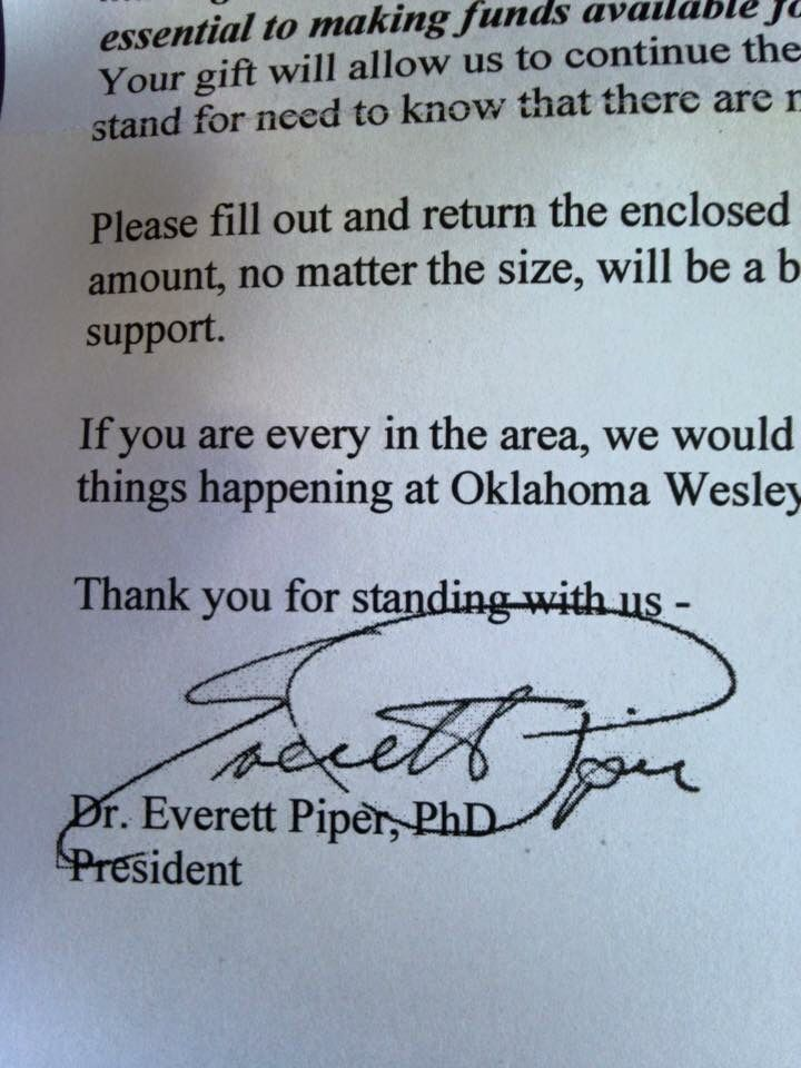 Embarrassing for a university president...