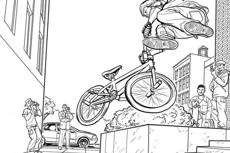 Bmx Coloring Sheets Kieron Dwyer Workblog Storyboards Bmx Color