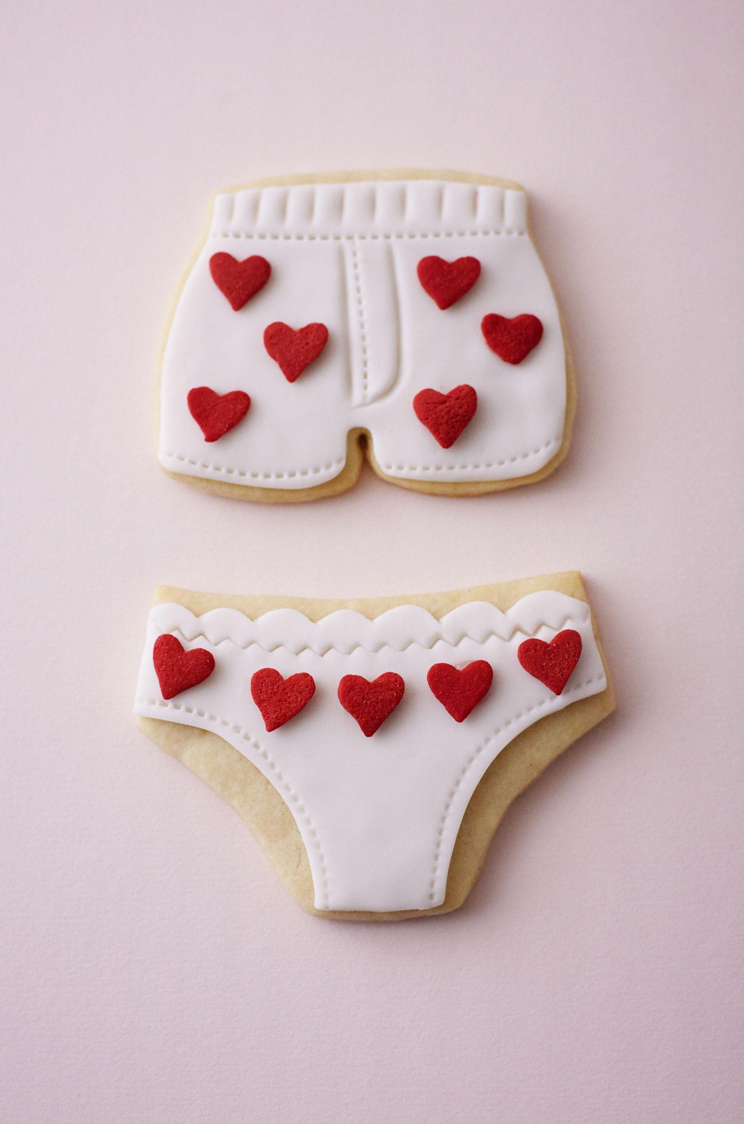 How To Make Valentine S Day Underwear Cookies Valentine S Day
