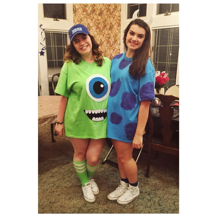 Diy Mike And Sully From Monster S Inc Costumes In 2019