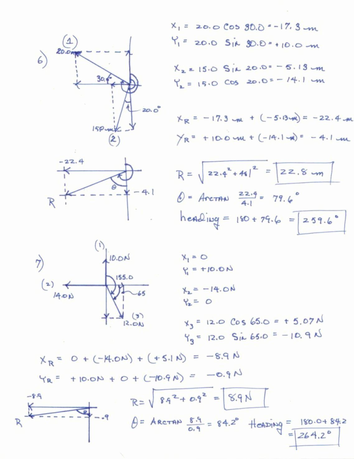 50 Vector Addition Worksheet With Answers In