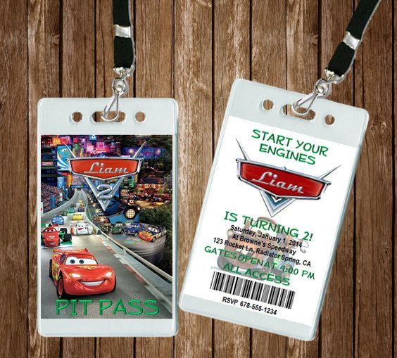 Cars vip pit pass invitation party ideas pinterest vip cars vip pit pass invitation 5 invites includes by houseofminions stopboris Images