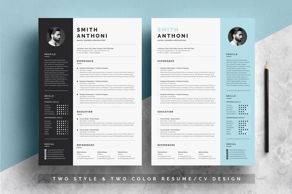 2 pages resume template pixelify best free fonts