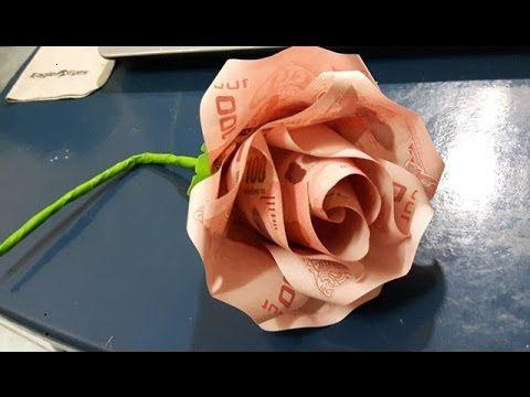 Geldgeschenk Idee Hochzeit Rose Aus Geld Basteln Youtube Kreative Geldgeschenke Geld Falten Geburtstag Geld Falten Hochzeit