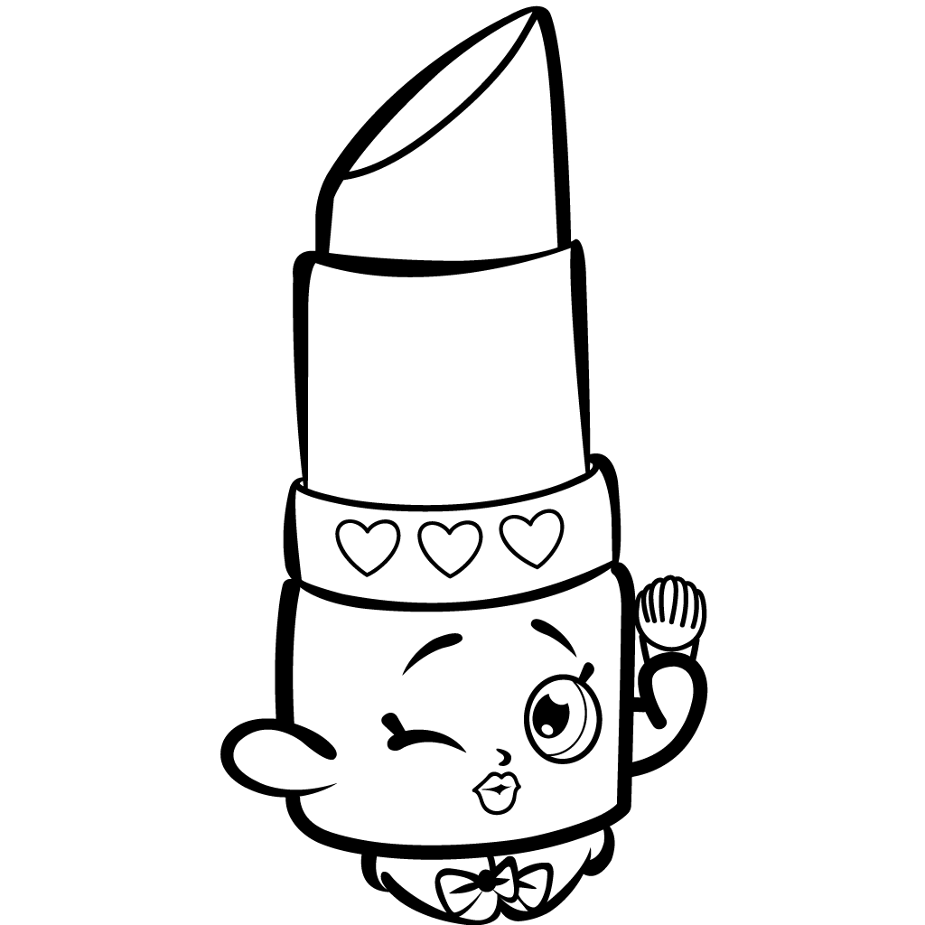 Shopkins Coloring Pages Popcorn. Beauty Lippy Lips shopkins season coloring pages printable and  book to print for free Find more online kids adults of Pin by H lmfr ur Hulda on Coloring Pinterest Shopkins Cricut