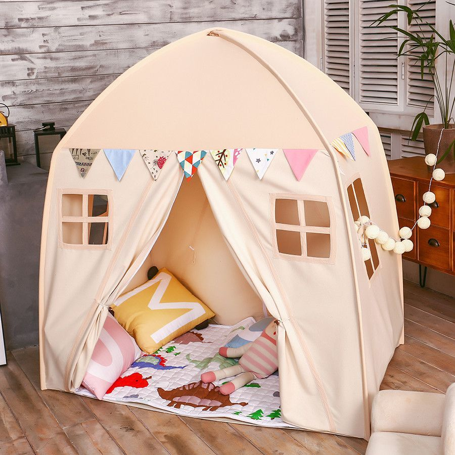 lovetree kids indoor princess castle play tents outdoor large playhouse beige