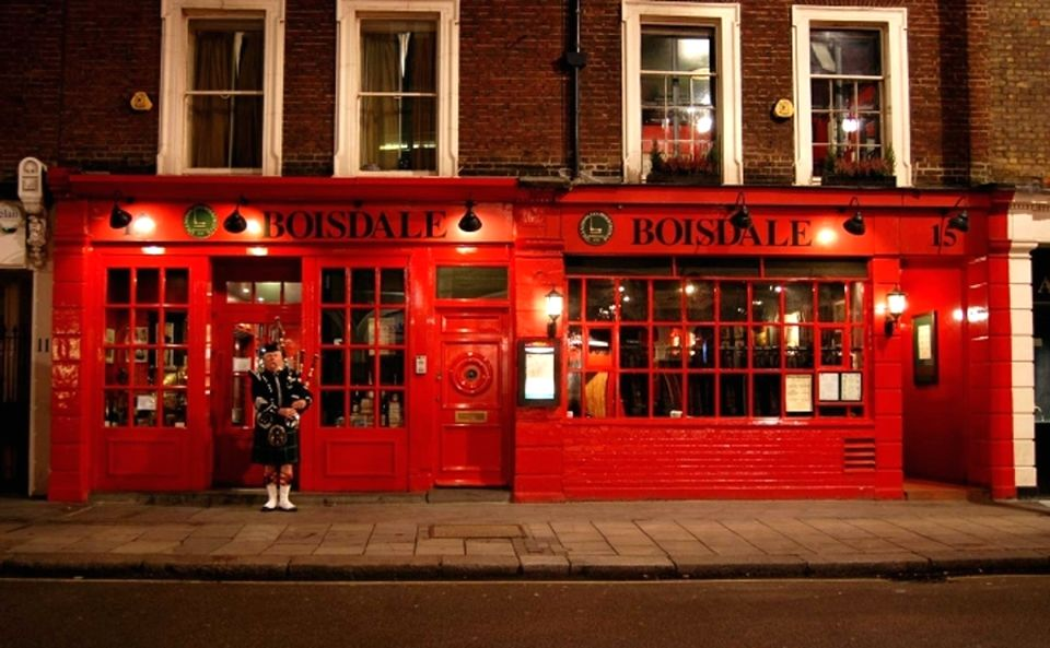 Restaurant Facade Design Boisdale of Belgravia London UK