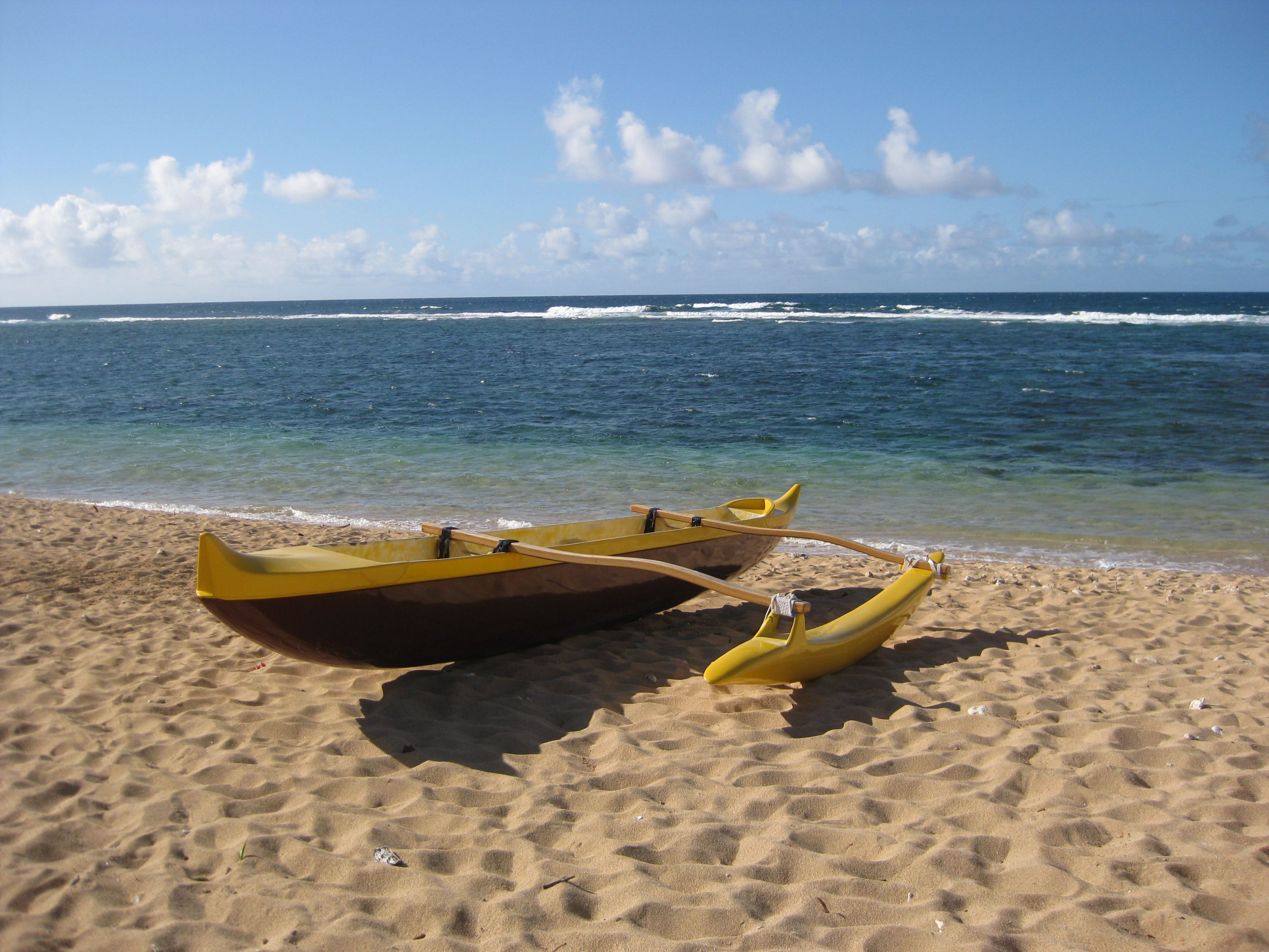 C Lion Outrigger Canoe A boat - Hawaii...