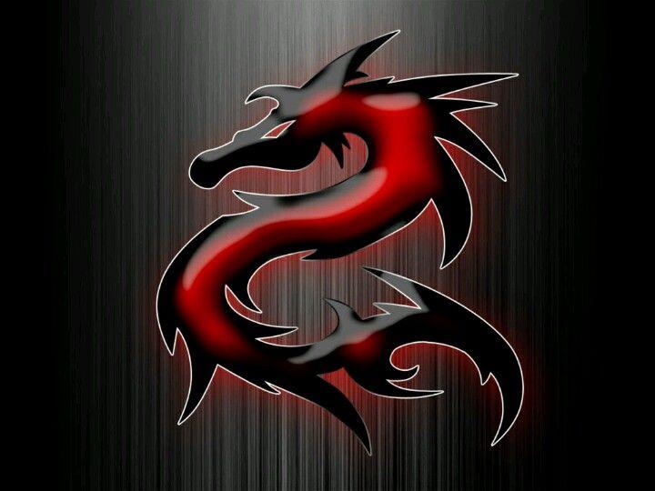 Black N Red Dragon Gambar Naga Gambar Naga