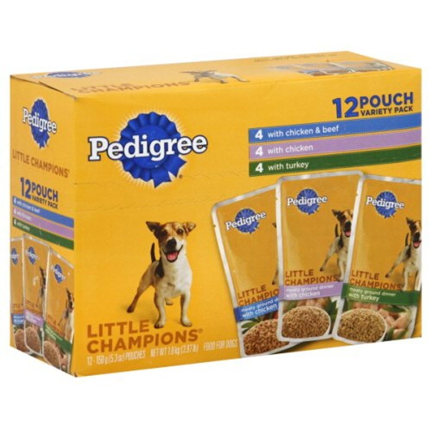 Pedigree Little Champions Food For Small Dogs Chicken Beef