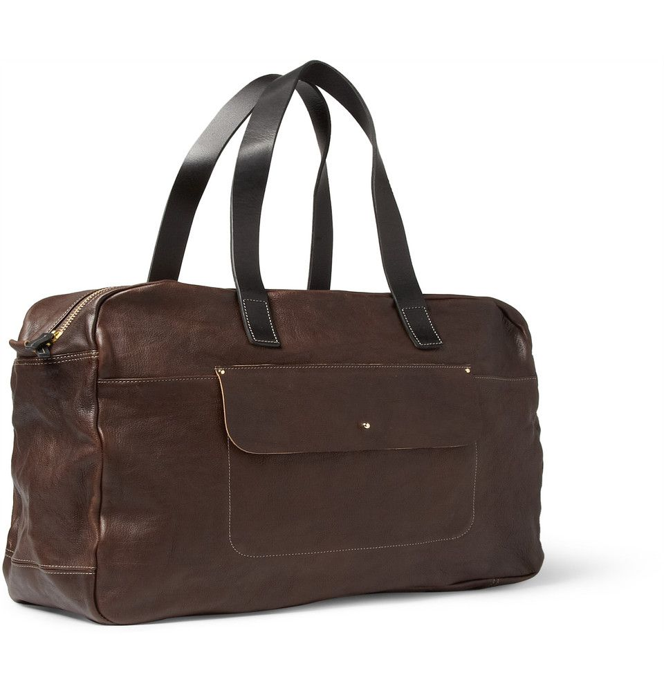 Ally Capellino Jimmy Textured-Leather Holdall | MR PORTER
