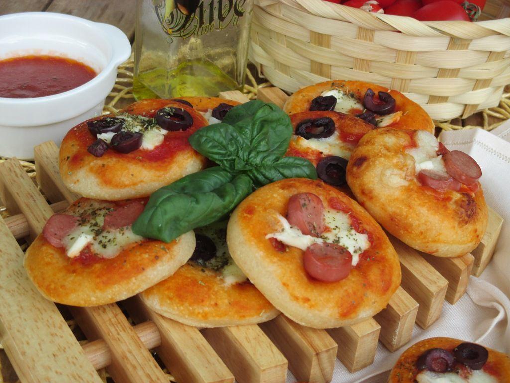 Pizzette da buffet a lievitazione naturale