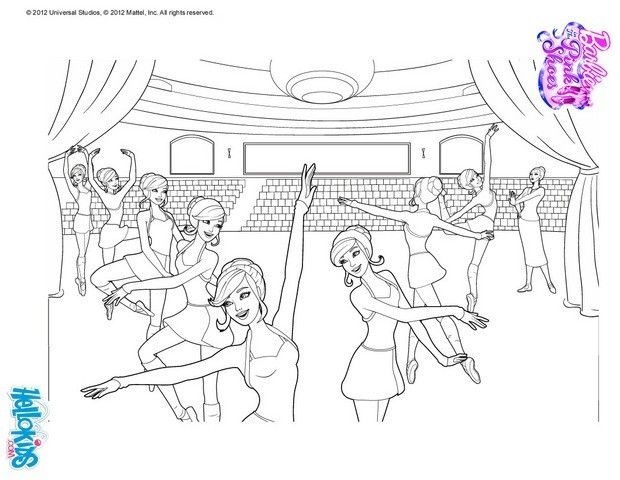 Barbie Ballerina Coloring Page More Sheets On Hellokids