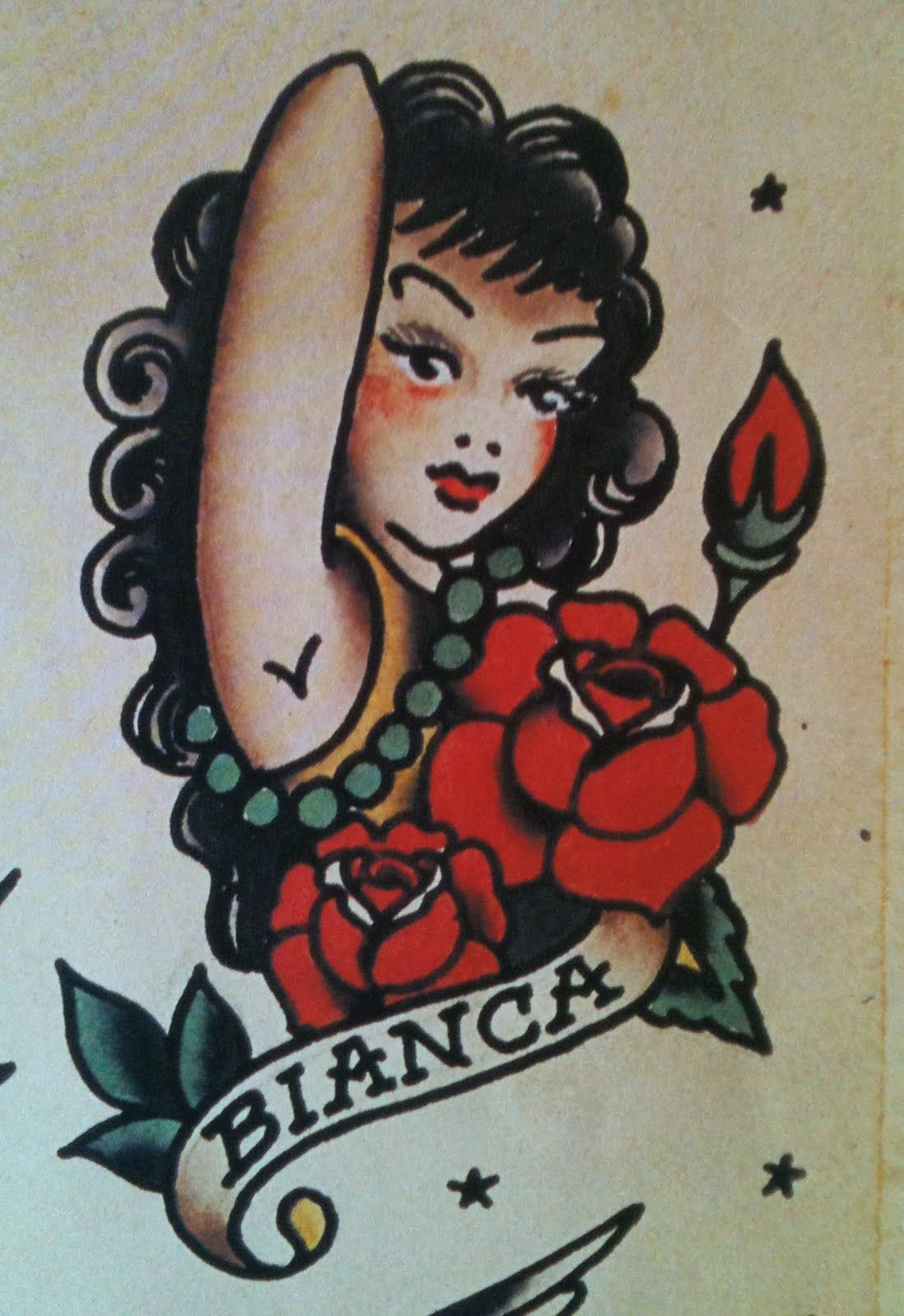 Sailor jerry make it a redhead and change the name to for Tattoo shops in norman