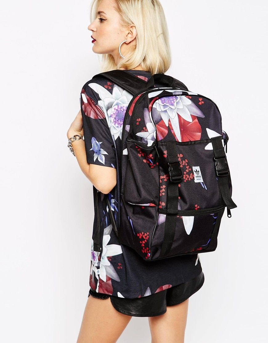 5ef5fe55783b Adidas Originals Backpack in Lotus Print