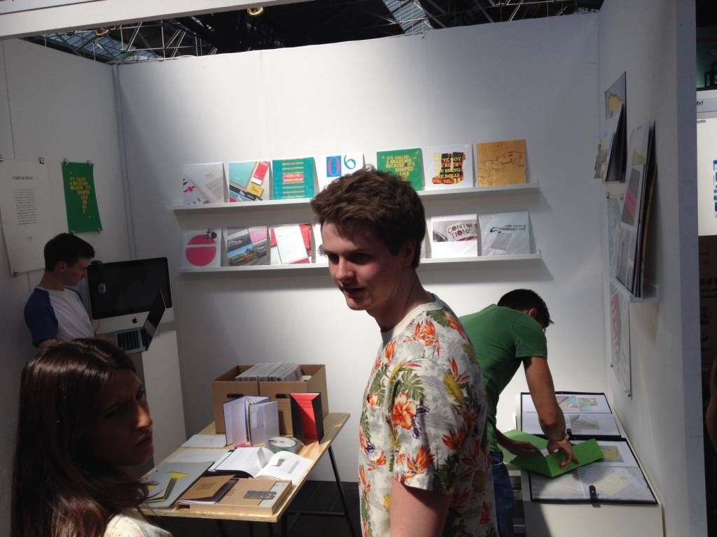 TU's Graphic Design stand pops up in record time after making tracks to London, mixing with the great and the good at New Blood 2014