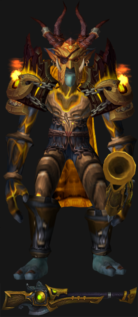 Troll Male Beast Mastery Hunter Artifact Set