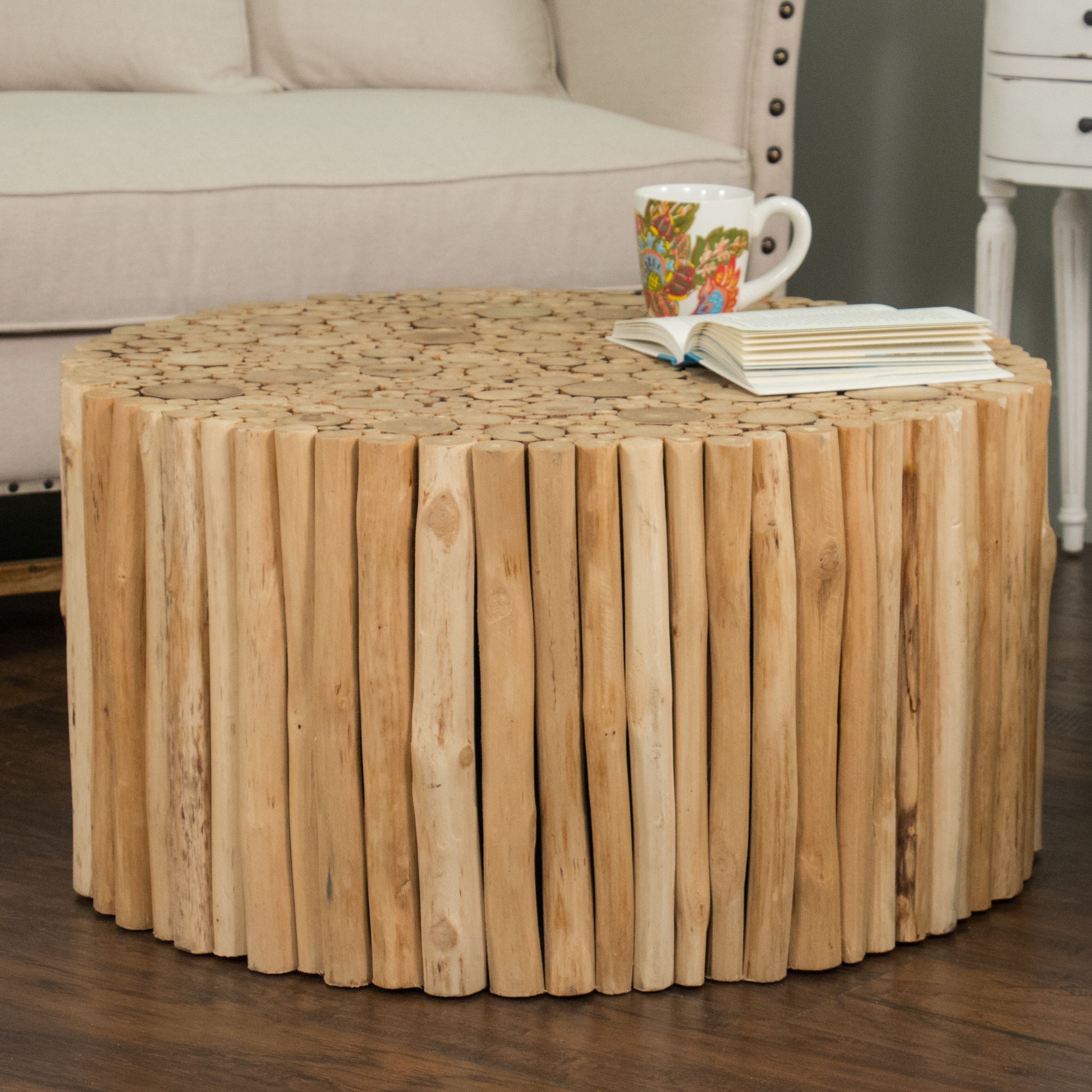 Beachcrest Home Great Heron Coffee Table Round Coffee Table Coffee Table Teak Coffee Table [ 3414 x 3414 Pixel ]