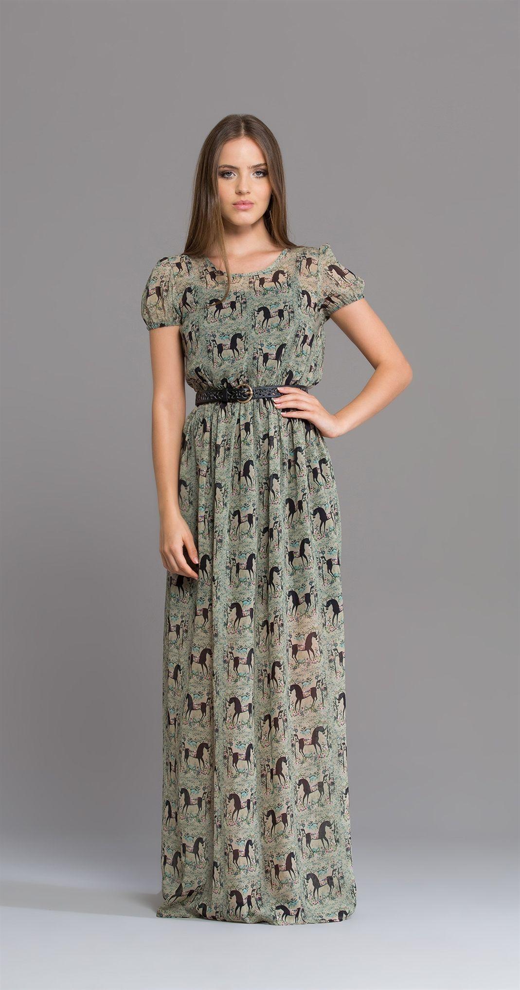 Tecido para vestido longo casual