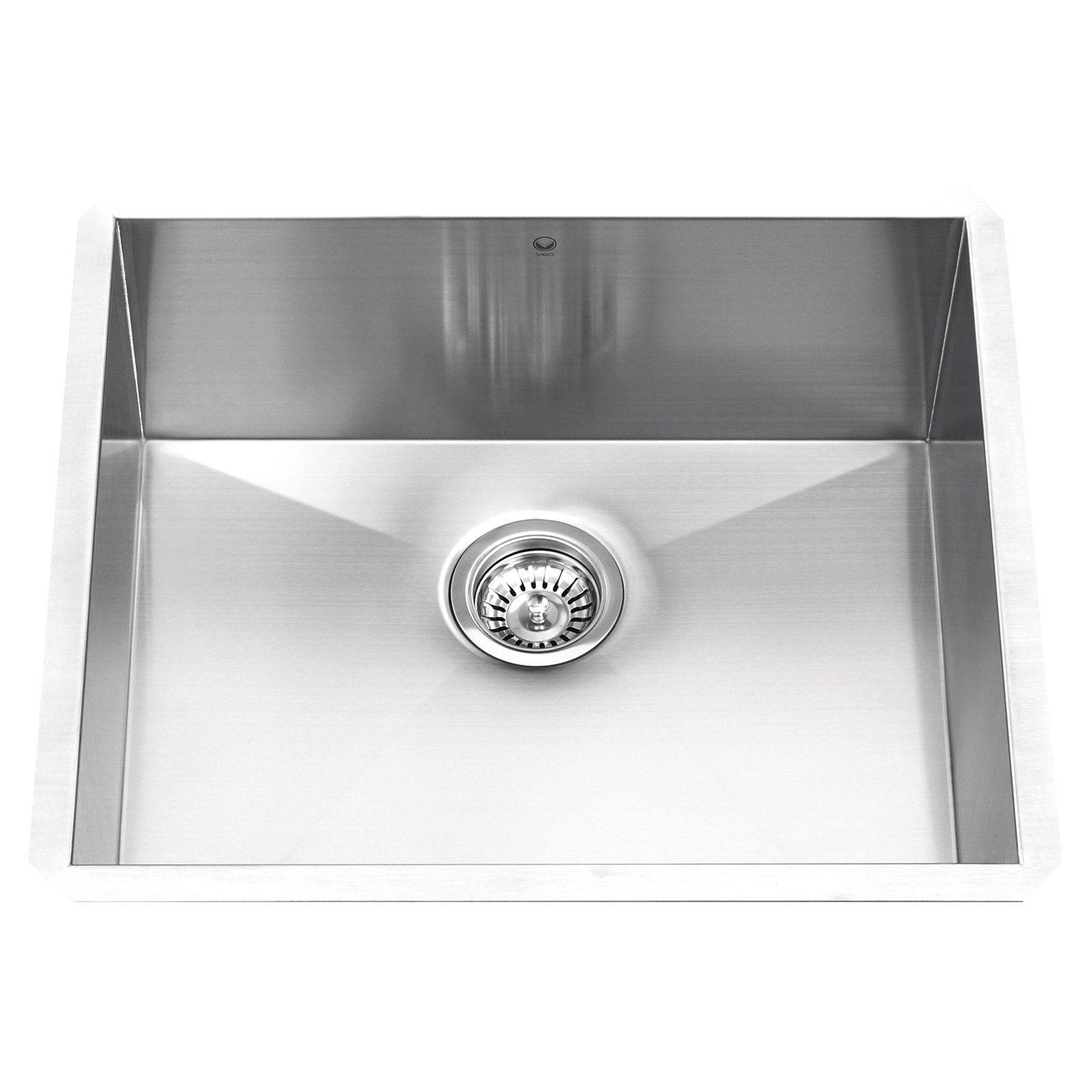 Vigo Vg2320c Single Basin Undermount Kitchen Sink In 2019 Single
