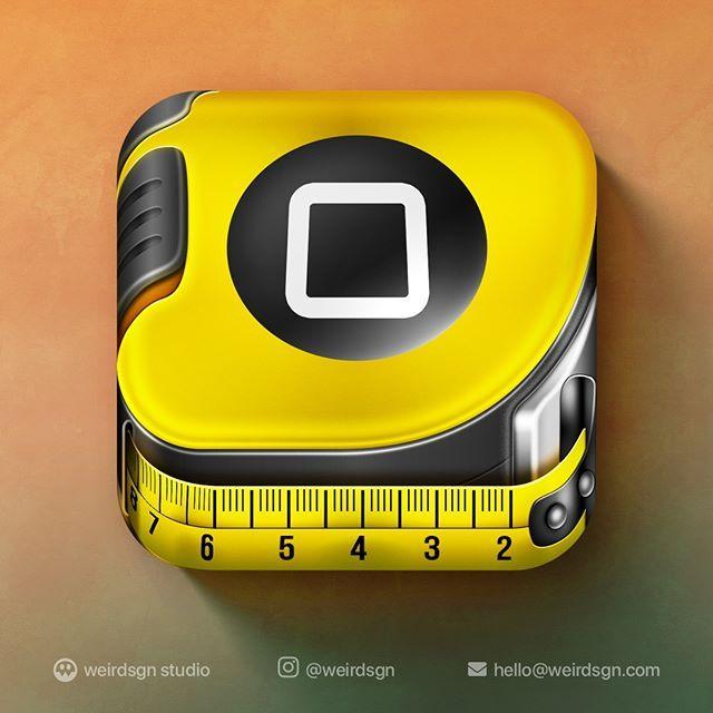 iOS Ruler App Icon Design. Follow weirdsgn weirdsgn
