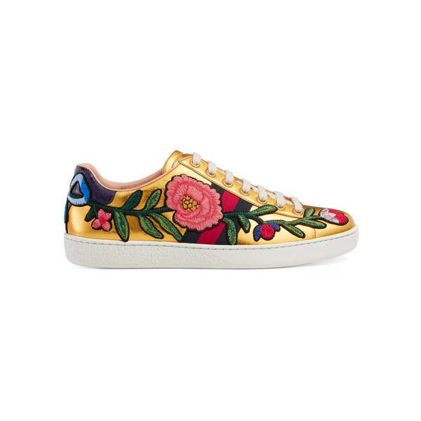 3a6d96830ac1 Gucci Women39S Ace Embroidered Sneaker 670 liked on Polyvore