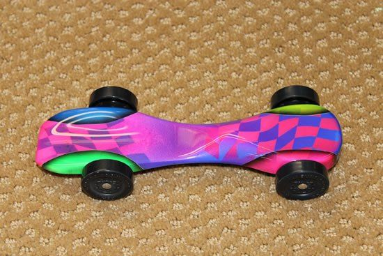 Ahg pinewood derby retro car