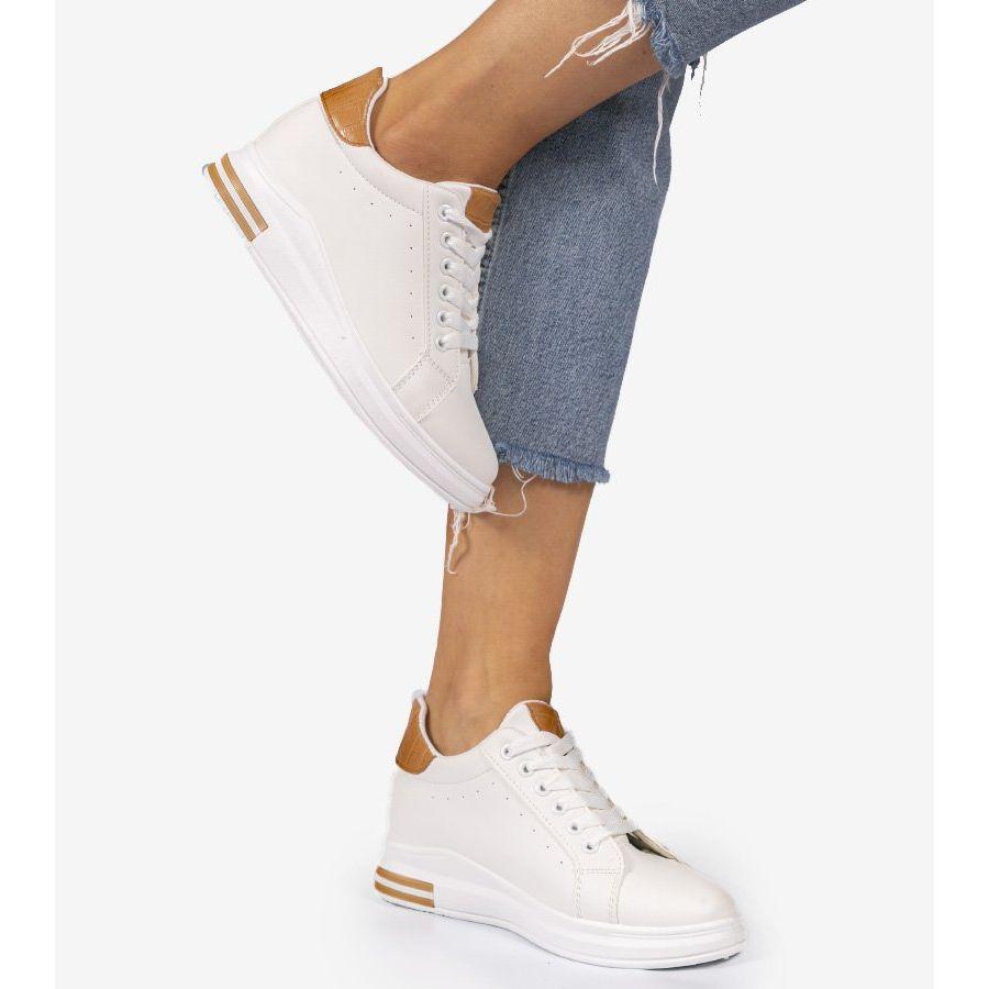 Biale Sneakersy Trampki Na Koturnie 2010 Adidas Stan Smith Adidas Stan Adidas Sneakers