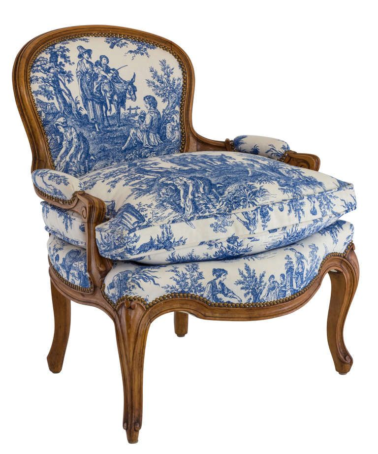 Fantastic Blue And White Toile Country French Chair At 1Stdibs Too Machost Co Dining Chair Design Ideas Machostcouk
