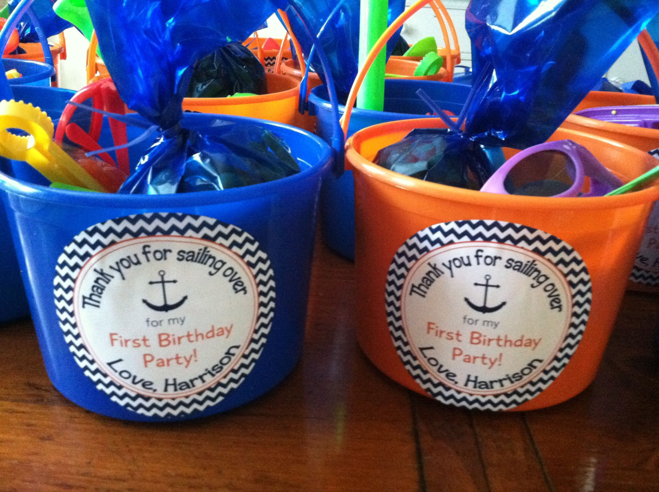 beach themed birthday party favors harrison turns one pinterest