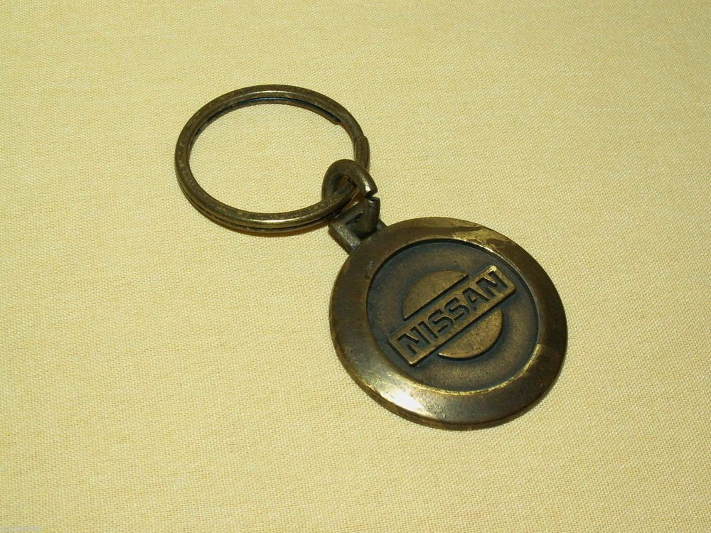 Nissan Of Lawton >> NISSAN KEYCHAIN KEYRING KEY CHAIN RING VINTAGE METAL BRASS ...