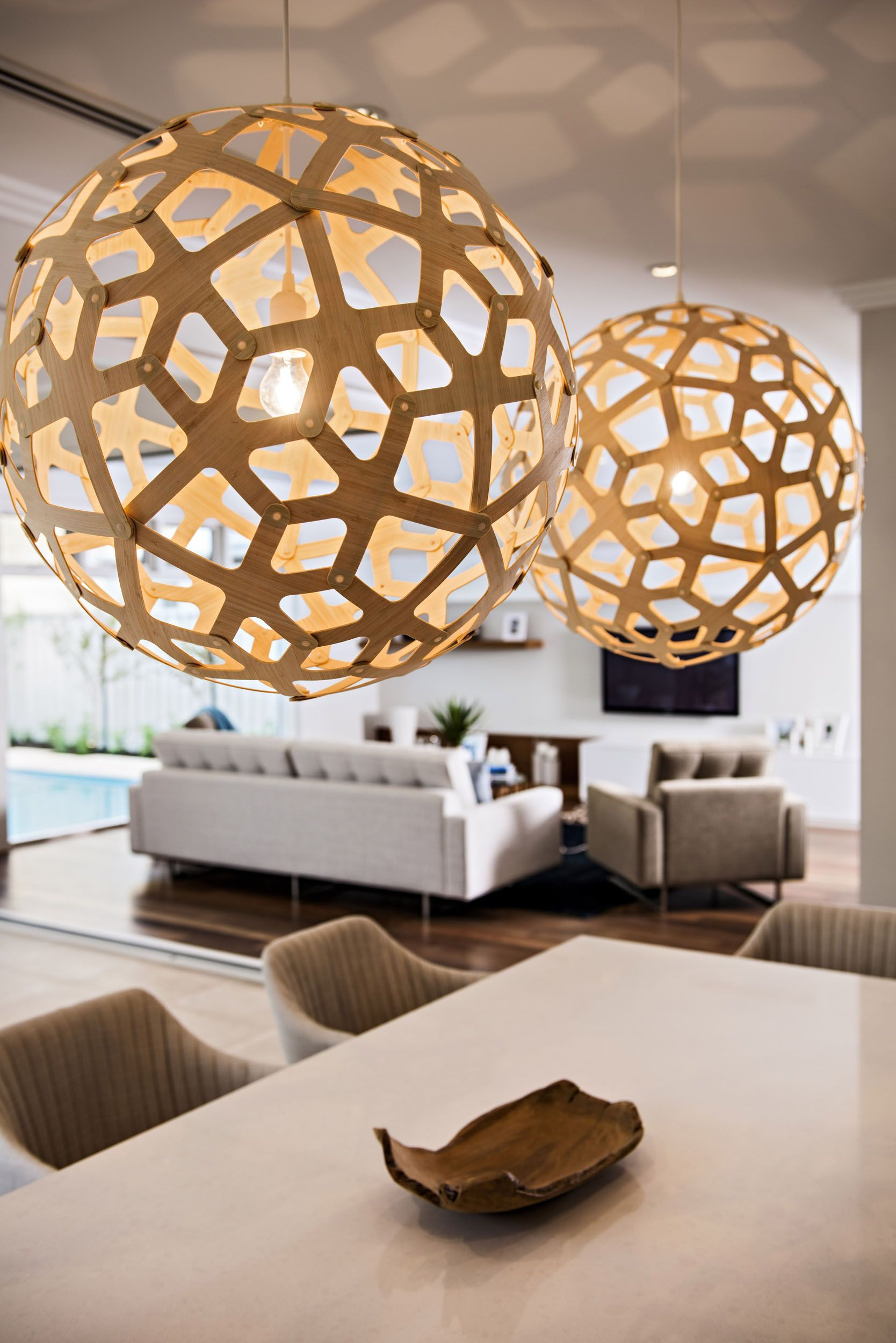 Bold Lighting At The Etesian By Webb Brown Neaves House Design Display Homes Storey Homes