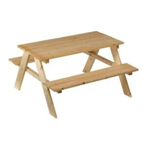 Outdoor Essentials 21 1 2 In X 35 In X 35 In Children S Picnic Table 243854 At The Home Depot Mobile Picnic Table Outdoor Essentials Kids Picnic Table