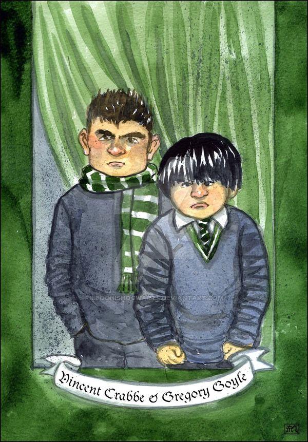 Vincent Crabbe Gregory Goyle By Leochis C 2015 Goyle Harry Potter Harry Potter Fan Art Fan Art