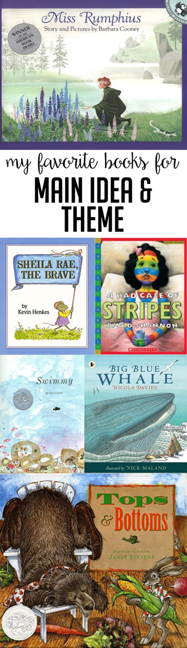 Books To Teach Main Idea And Theme Susan Jones Teaching Main Idea Reading Classroom 3rd Grade Reading