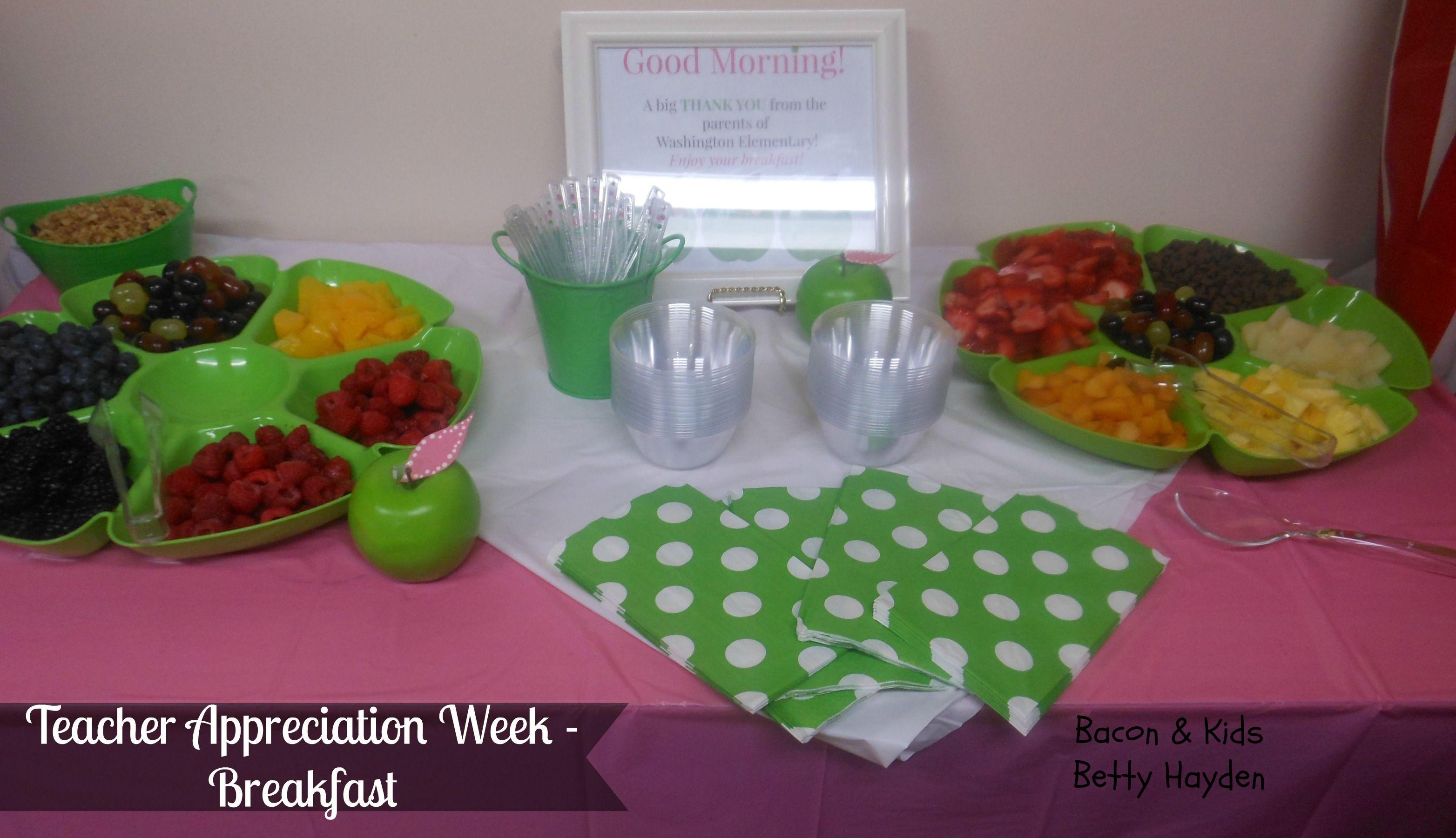 Teacher Appreciation Week Day 5 Breakfast