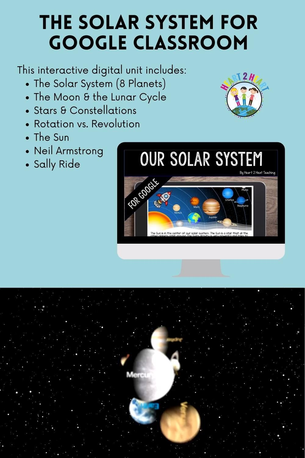The Solar System For Google Classroom Video Solar System Solar System Activities Technology Lessons [ 1500 x 1000 Pixel ]