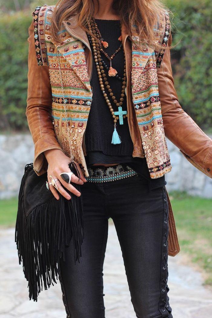 1001 looks parfaits d 39 automne hiver avec une tenue boh me chic pinterest pantalon slim. Black Bedroom Furniture Sets. Home Design Ideas
