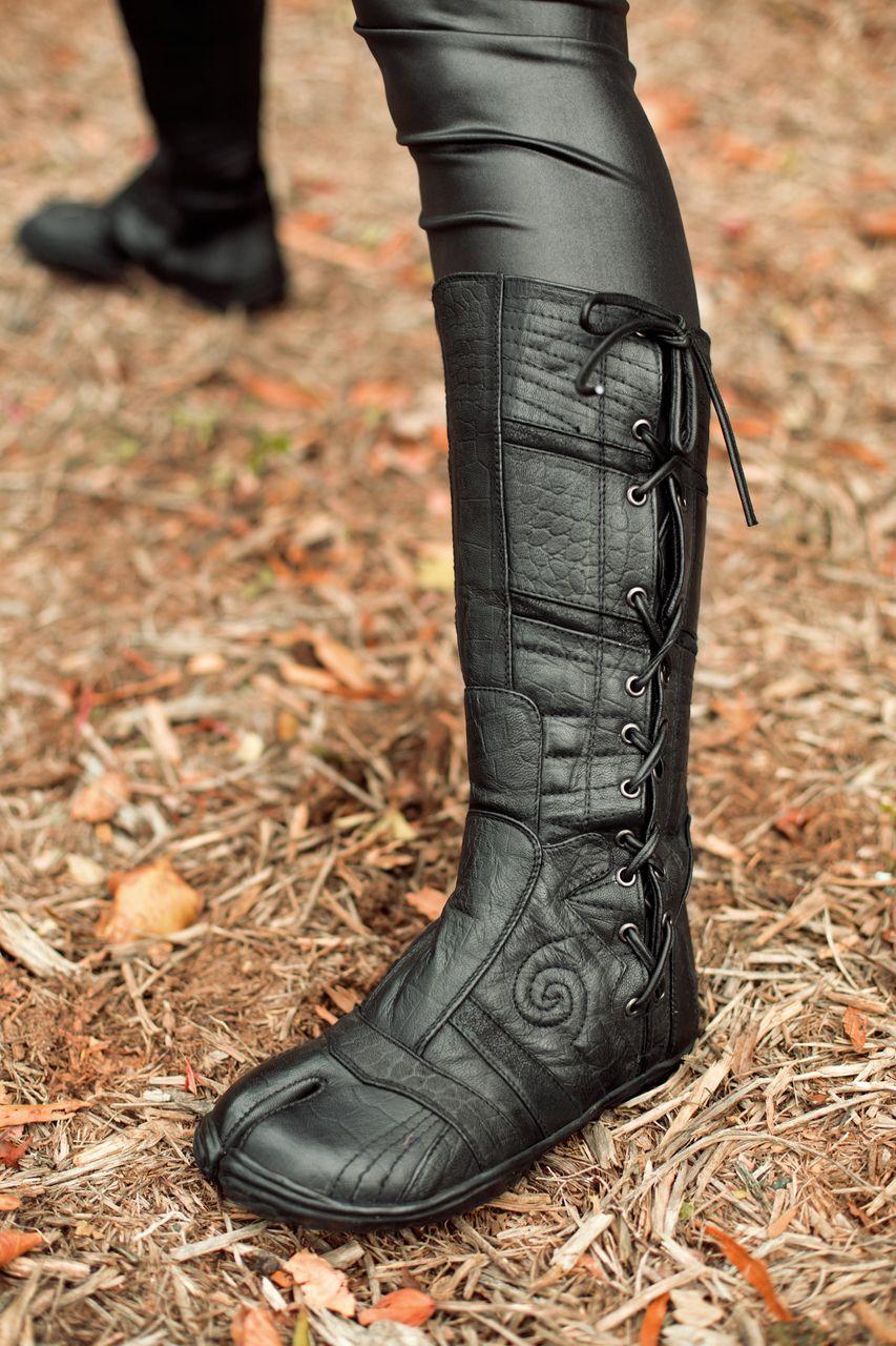Leather Spiral Tabi Ayyawear Minimalist Shoes Fashion
