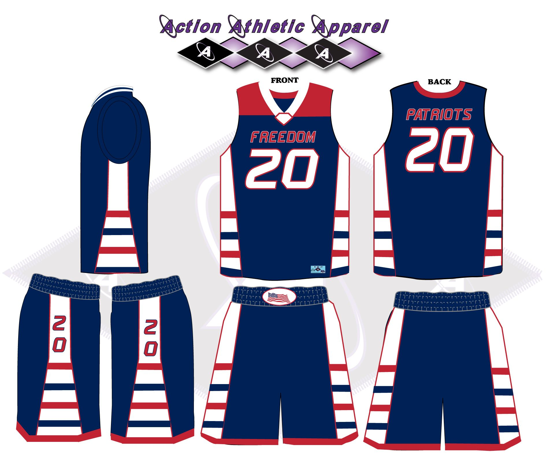 7ba08ff32 Nice Clean Design of a Road Full Dye Sublimated Uniform for a School Team
