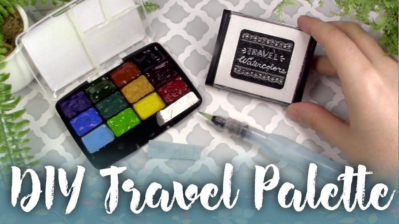 Easy Diy Cheap Watercolor Paint Travel Palette Watercolour