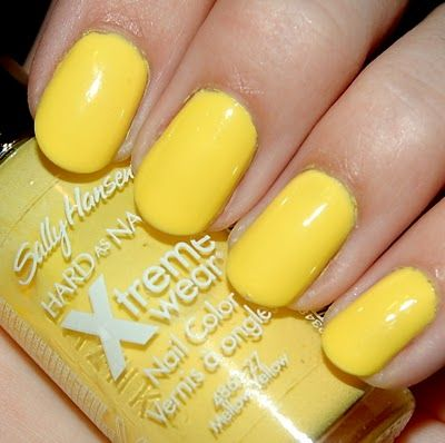 Sally Hansen Hard As Nails Xtreme Wear Mellow Yellow Just Got This Color And I Love It